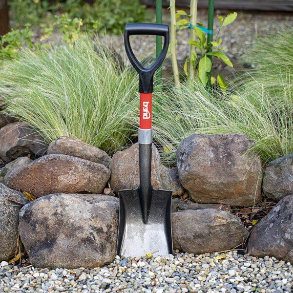 Bond Manufacturing LH047 Mini D-Handle Square Head Shovel, 1-Pack, Red - Black - 3
