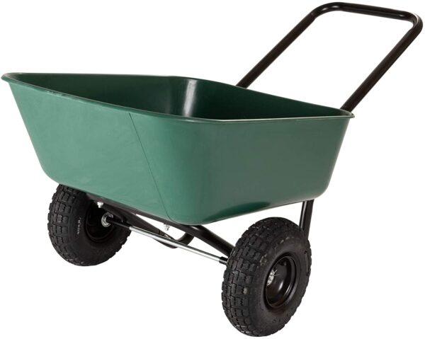 Garden Star 70019 Garden Barrow Dual-Wheel Wheelbarrow-Garden Cart - 1
