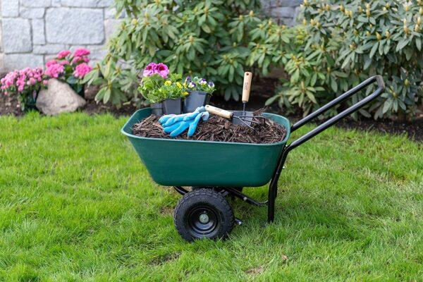 Garden Star 70019 Garden Barrow Dual-Wheel Wheelbarrow-Garden Cart - 3